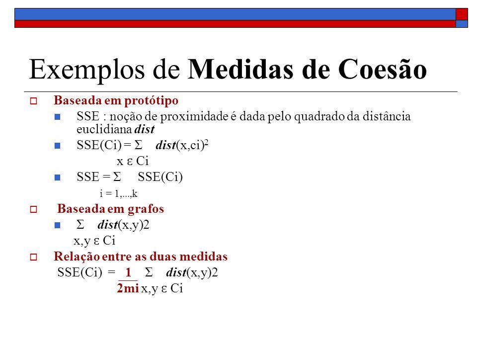 Exemplos de Medidas de Coesão