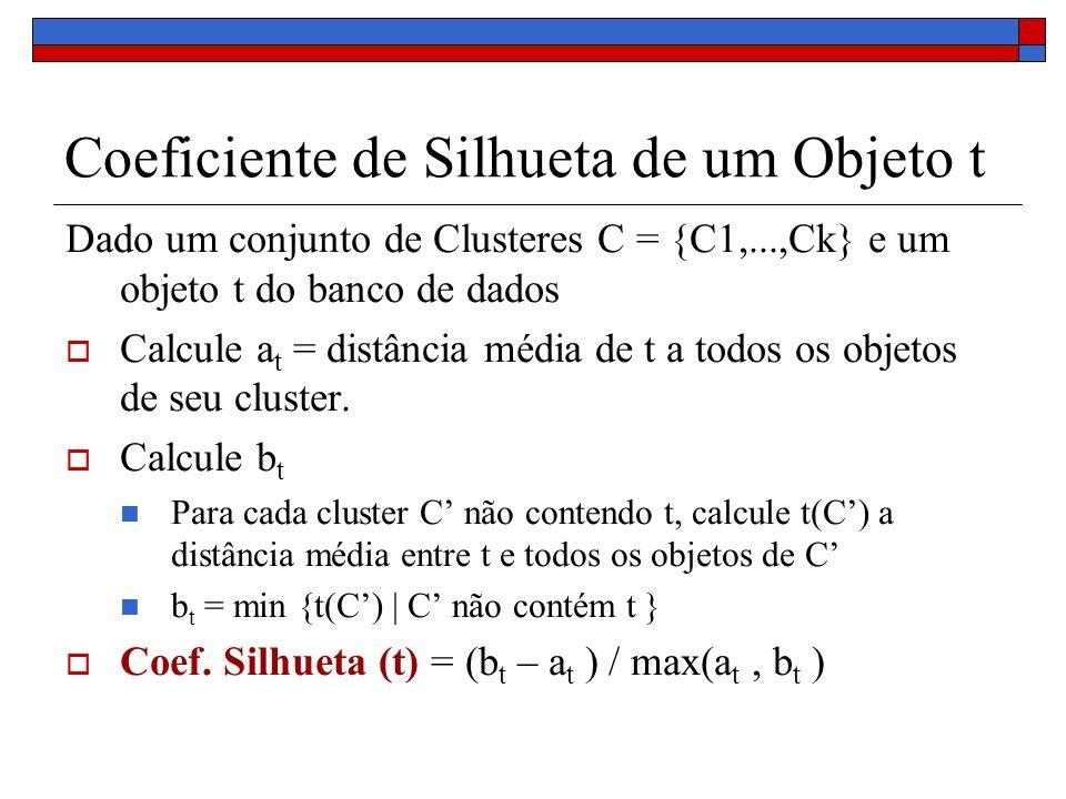 Coeficiente de Silhueta de um Objeto t