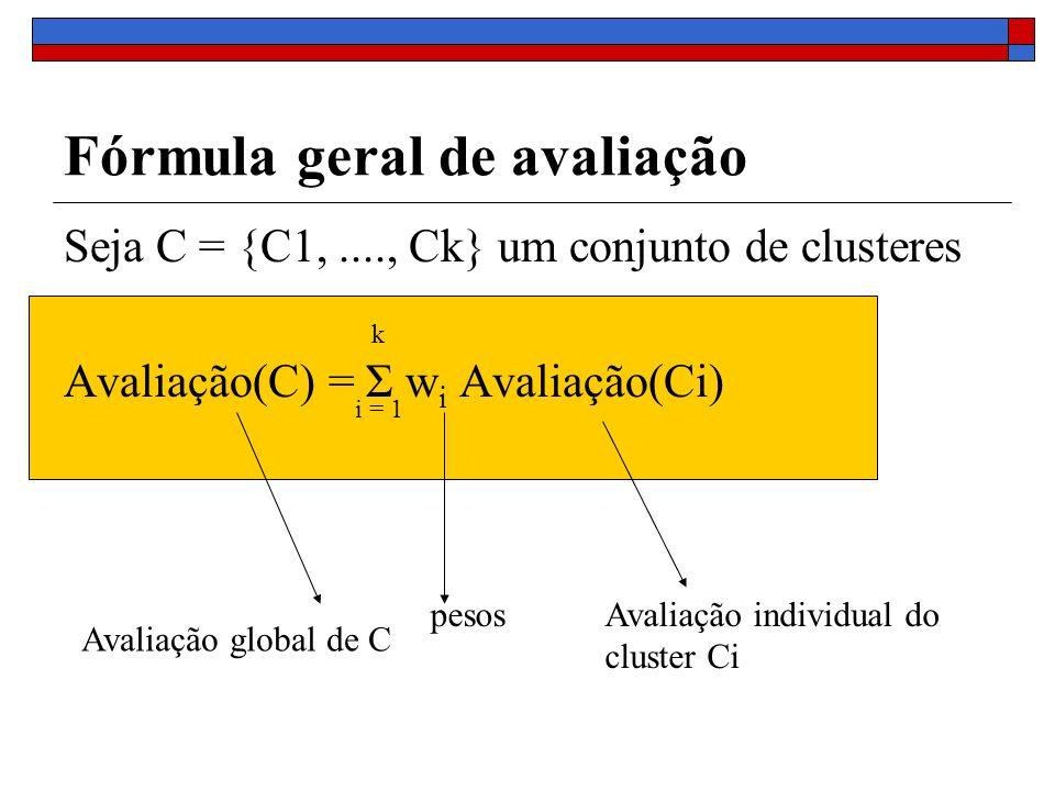 Fórmula geral de avaliação
