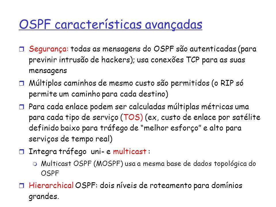 OSPF características avançadas