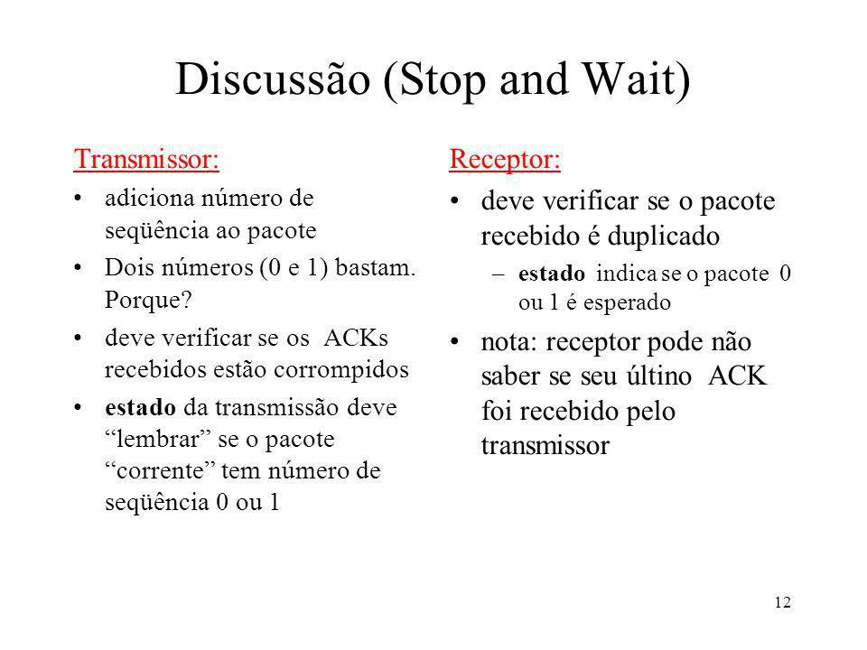 Discussão (Stop and Wait)