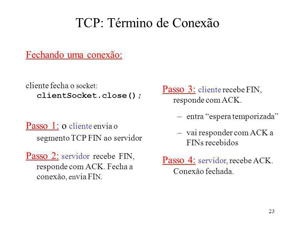 TCP: Término de Conexão