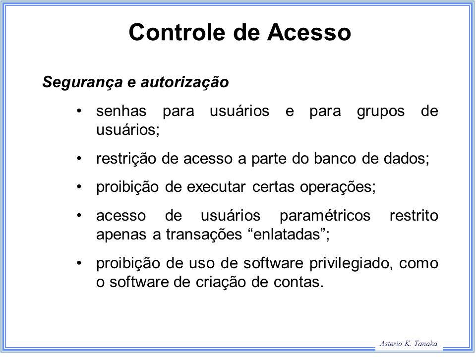 Controle de Acesso Segurança e autorização