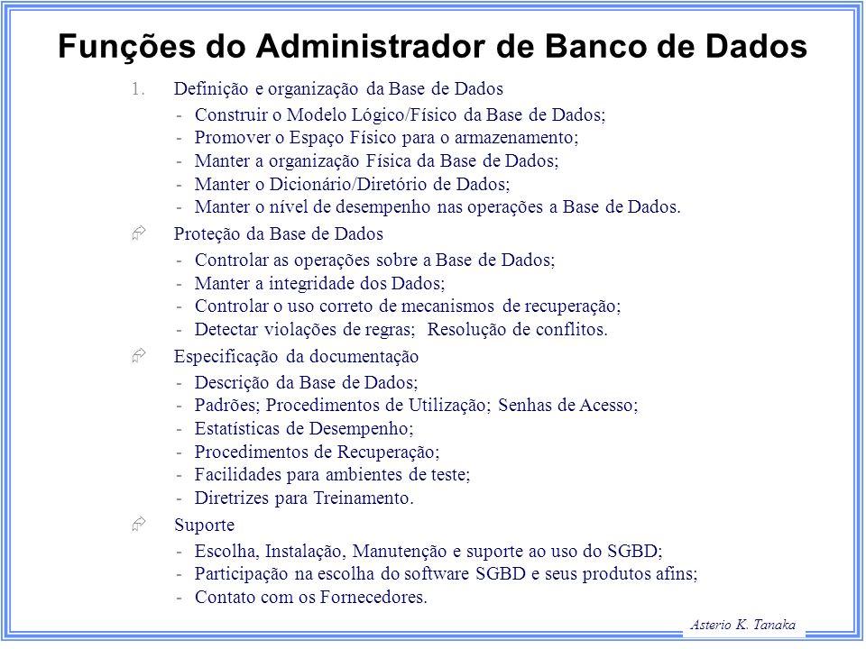 Funções do Administrador de Banco de Dados