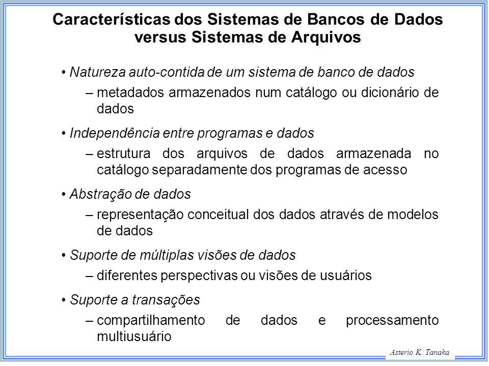 Características dos Sistemas de Bancos de Dados versus Sistemas de Arquivos