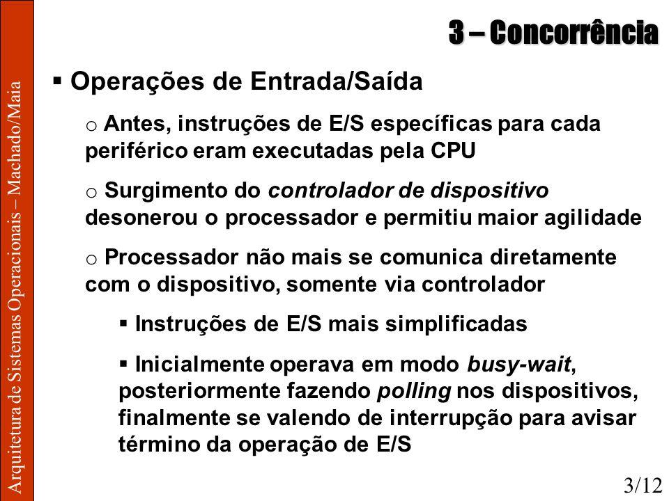 3 – Concorrência Operações de Entrada/Saída