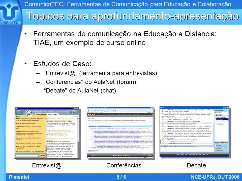 Tópicos para aprofundamento-apresentação
