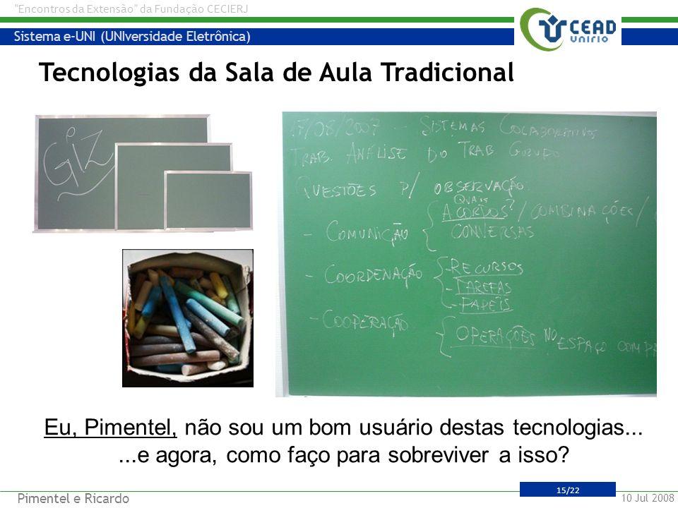 Tecnologias da Sala de Aula Tradicional