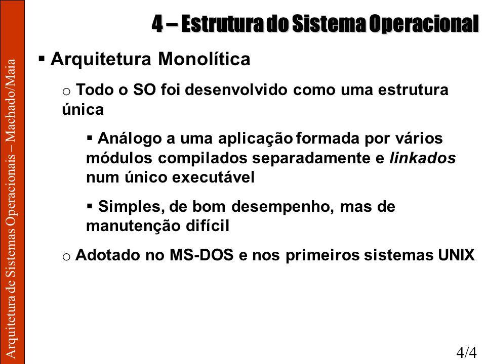 4 – Estrutura do Sistema Operacional