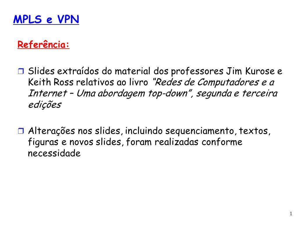 MPLS e VPNReferência: