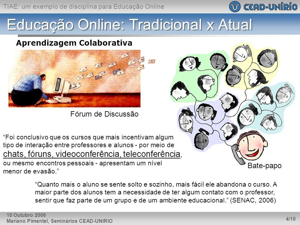 Educação Online: Tradicional x Atual