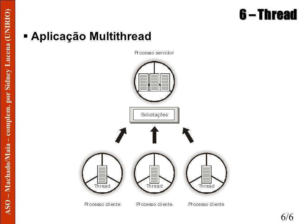 6 – Thread Aplicação Multithread 6/6