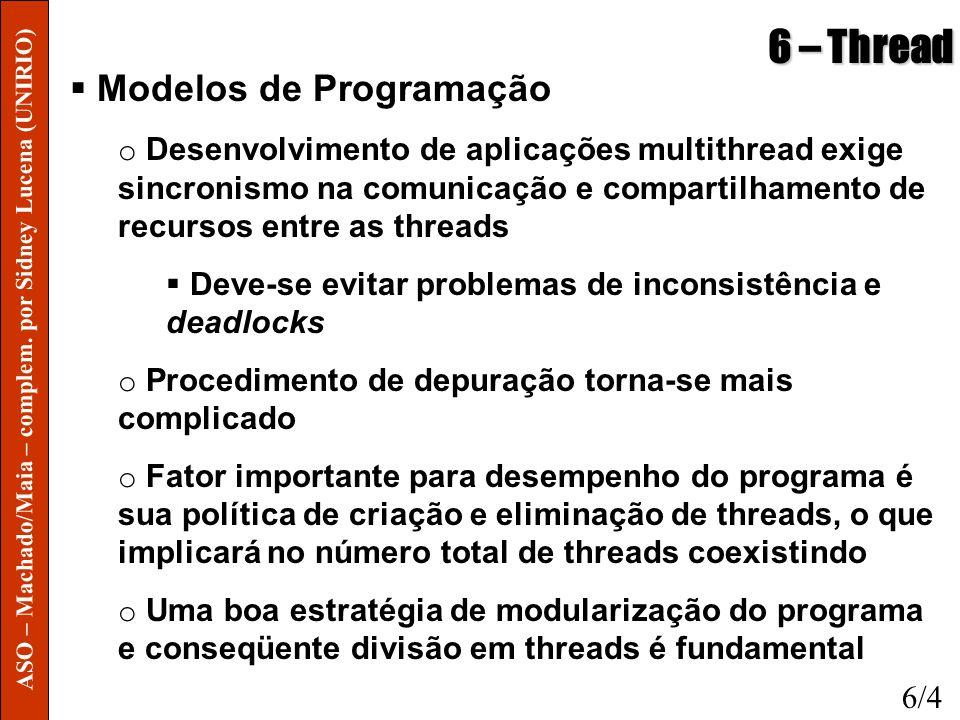 6 – Thread Modelos de Programação