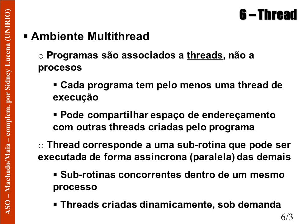 6 – Thread Ambiente Multithread