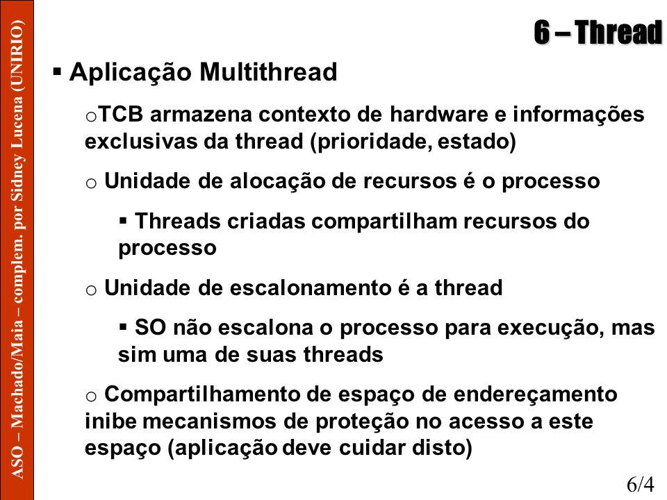 6 – Thread Aplicação Multithread