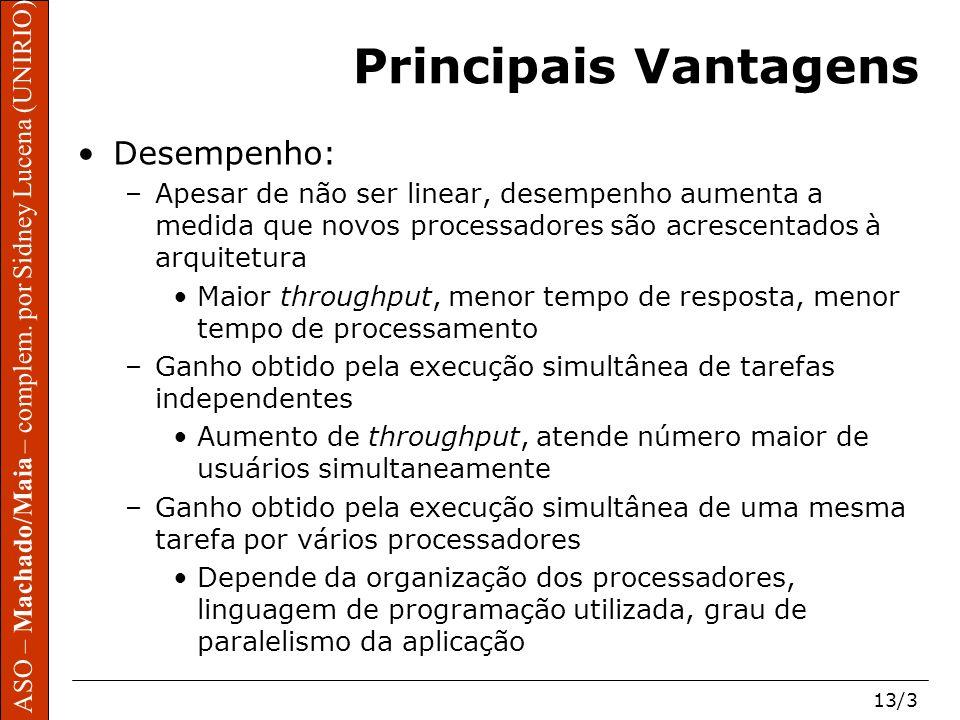 Principais Vantagens Desempenho: