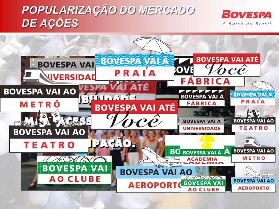 POPULARIZAÇÃO DO MERCADO DE AÇÕES