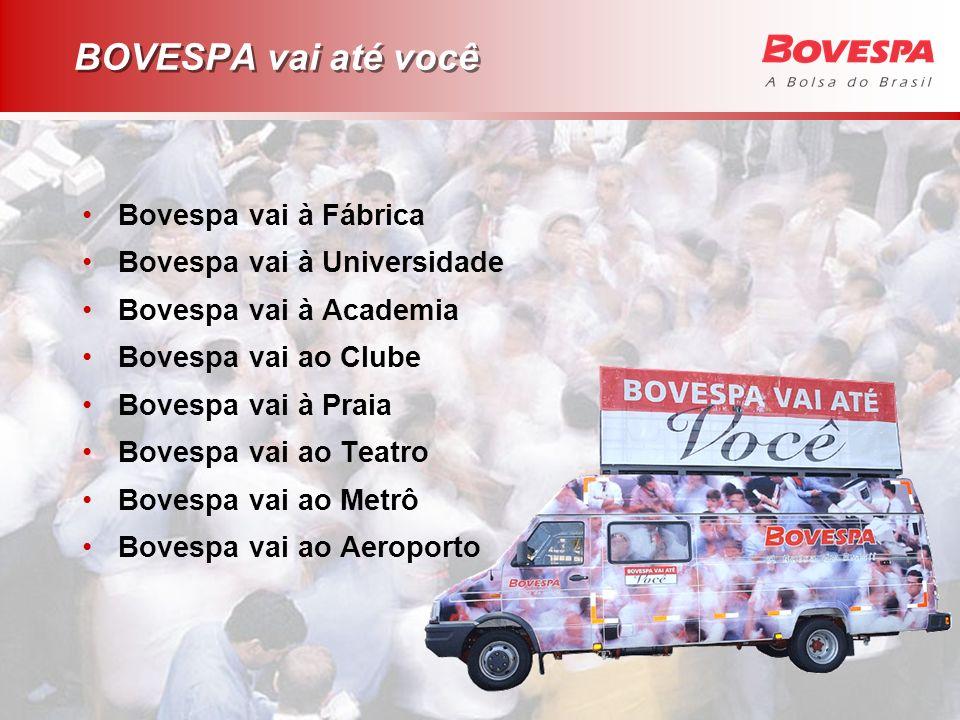 BOVESPA vai até você Bovespa vai à Fábrica Bovespa vai à Universidade