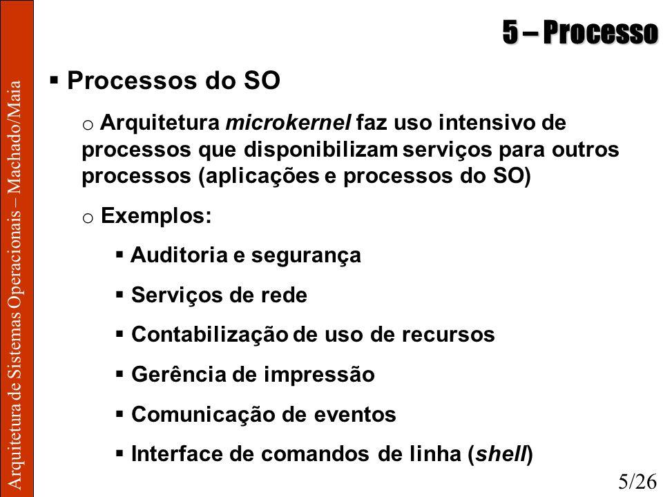 5 – Processo Processos do SO