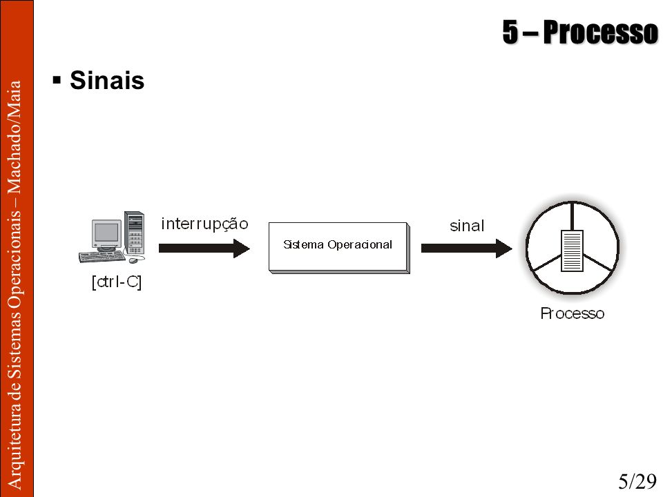 5 – Processo Sinais Arquitetura de Sistemas Operacionais – Machado/Maia 5/29