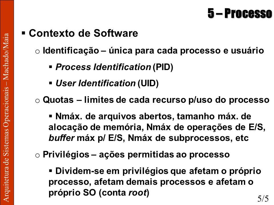 5 – Processo Contexto de Software