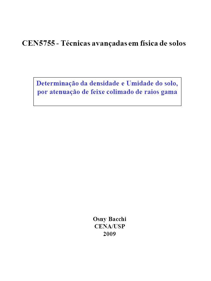 CEN5755 - Técnicas avançadas em física de solos
