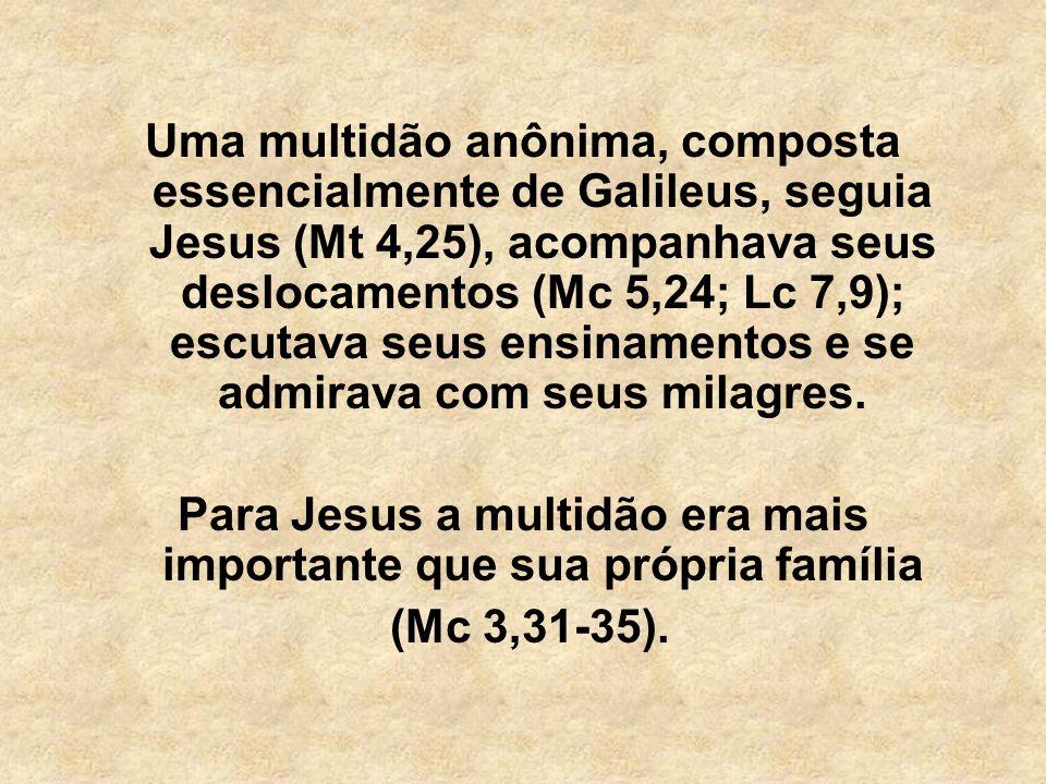 Para Jesus a multidão era mais importante que sua própria família