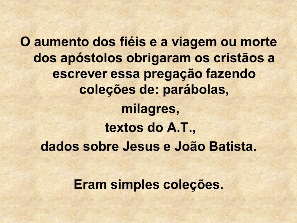 dados sobre Jesus e João Batista.