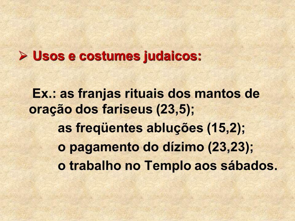 Usos e costumes judaicos: