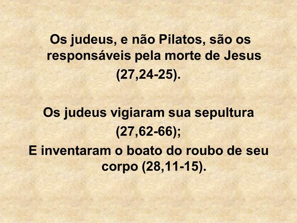 Os judeus, e não Pilatos, são os responsáveis pela morte de Jesus