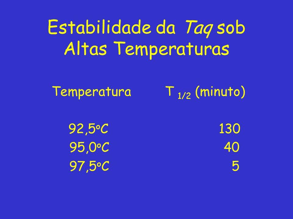Estabilidade da Taq sob Altas Temperaturas