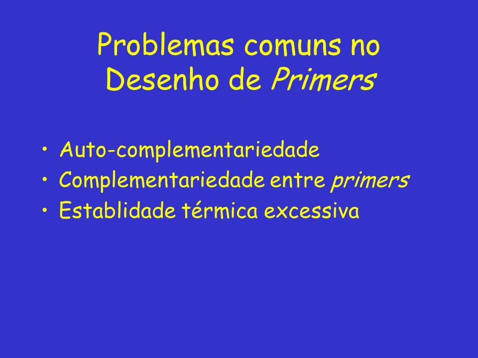 Problemas comuns no Desenho de Primers