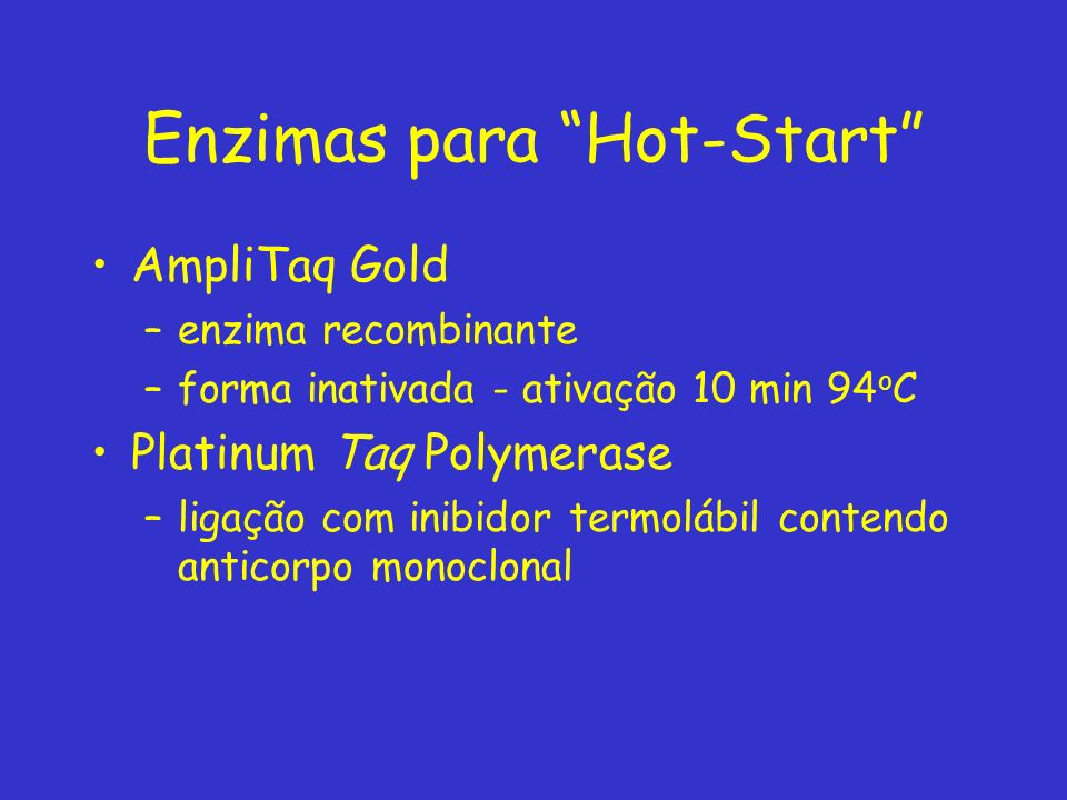 Enzimas para Hot-Start