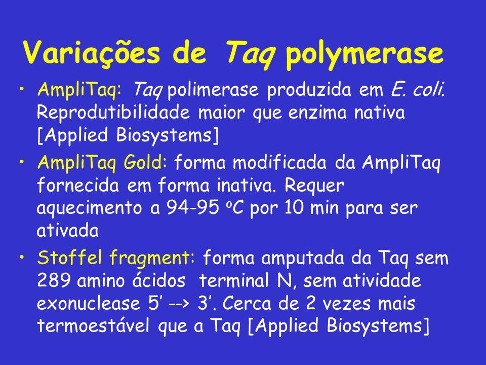 Variações de Taq polymerase