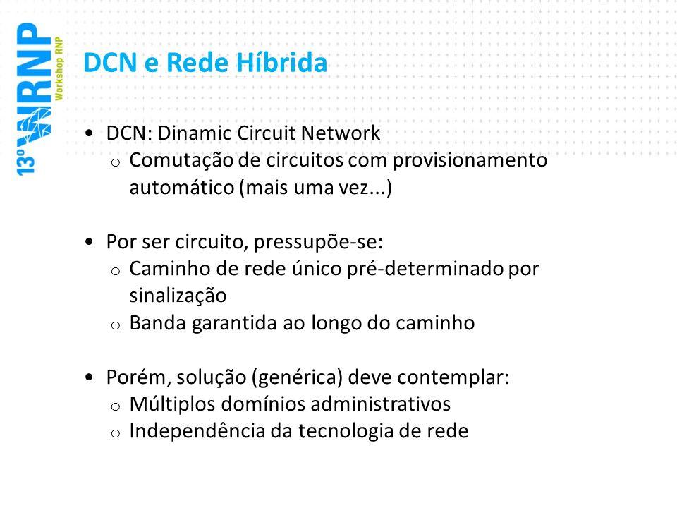 DCN e Rede Híbrida DCN: Dinamic Circuit Network