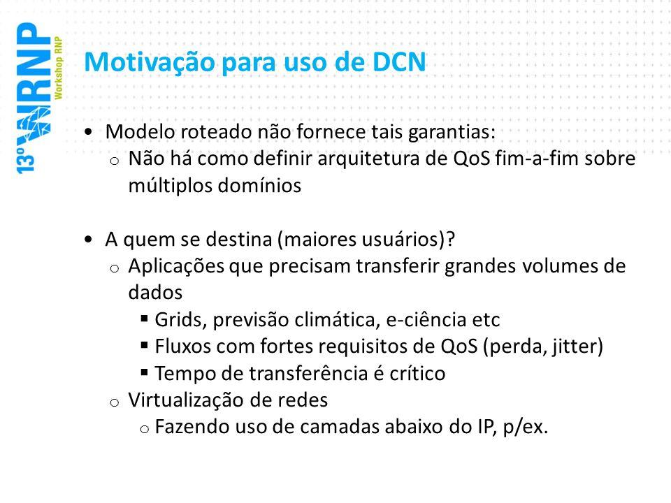 Motivação para uso de DCN