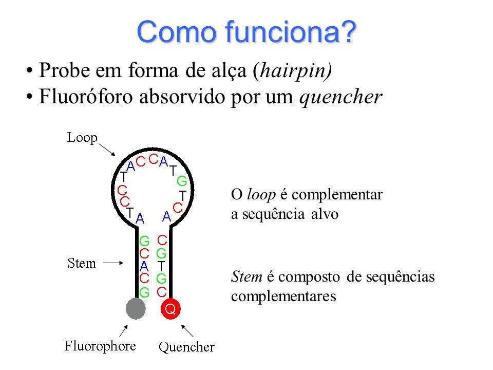Como funciona Probe em forma de alça (hairpin)