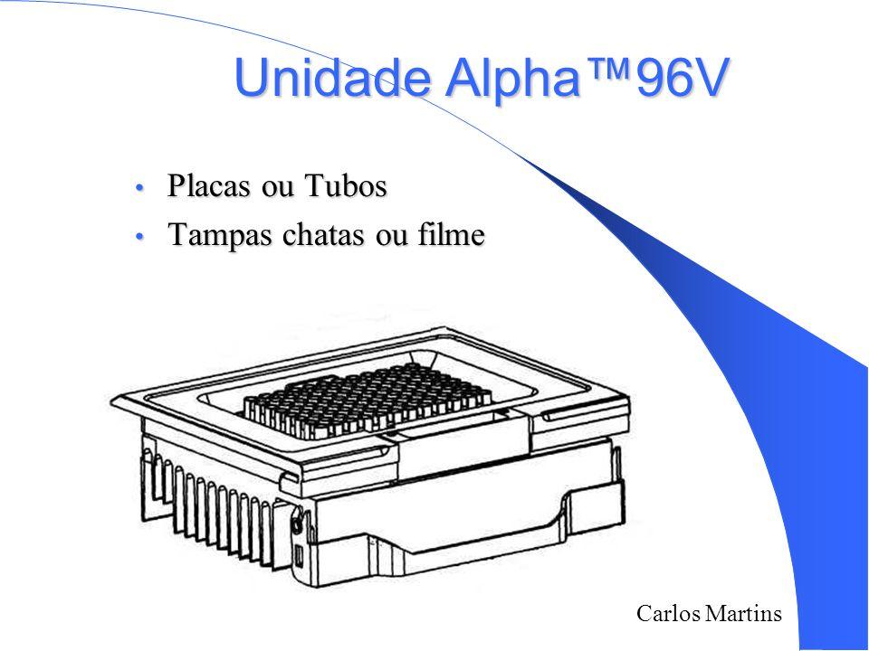 Unidade Alpha™96V Placas ou Tubos Tampas chatas ou filme