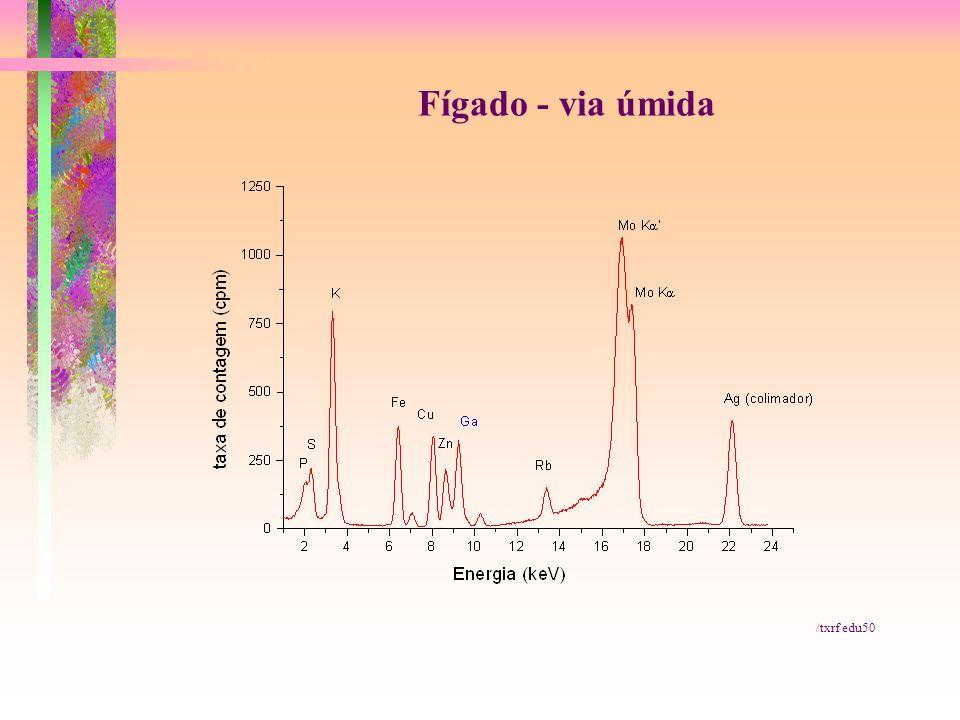 Fígado - via úmida /txrf edu50