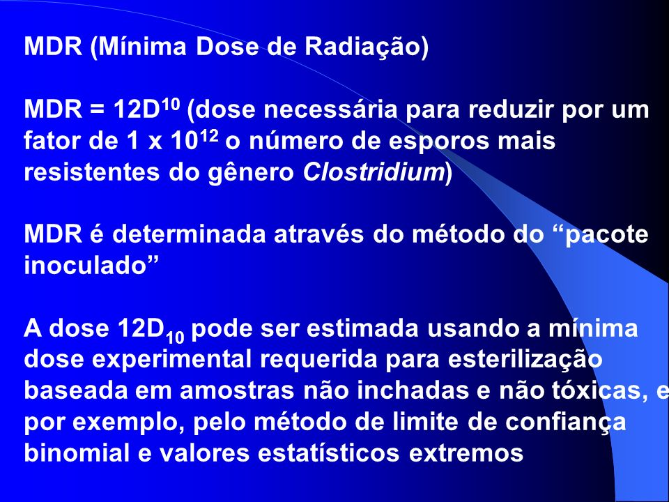 MDR (Mínima Dose de Radiação)