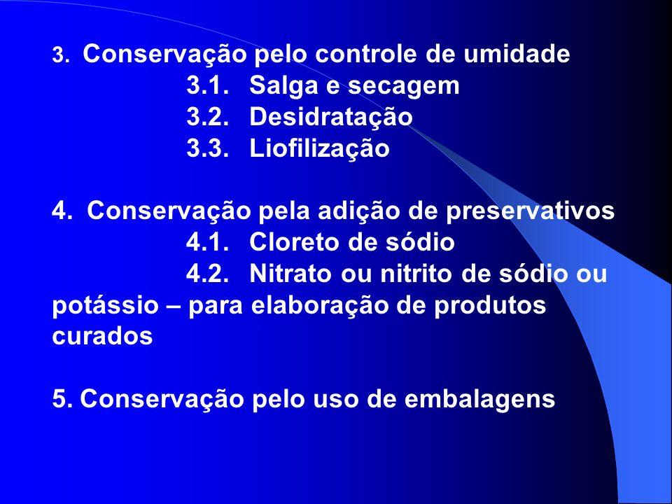 4. Conservação pela adição de preservativos 4.1. Cloreto de sódio