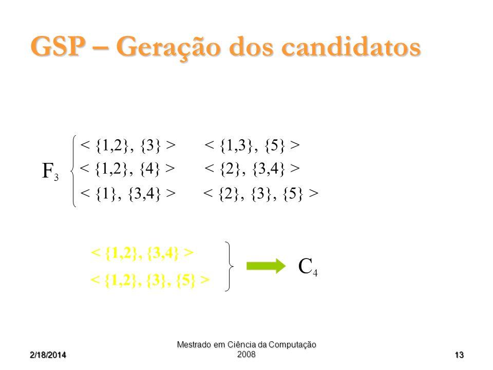 GSP – Geração dos candidatos