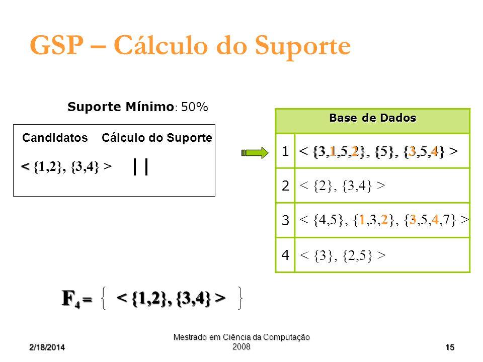 GSP – Cálculo do Suporte