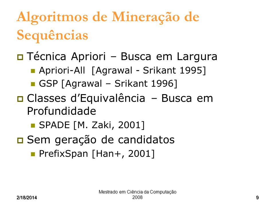 Algoritmos de Mineração de Sequências