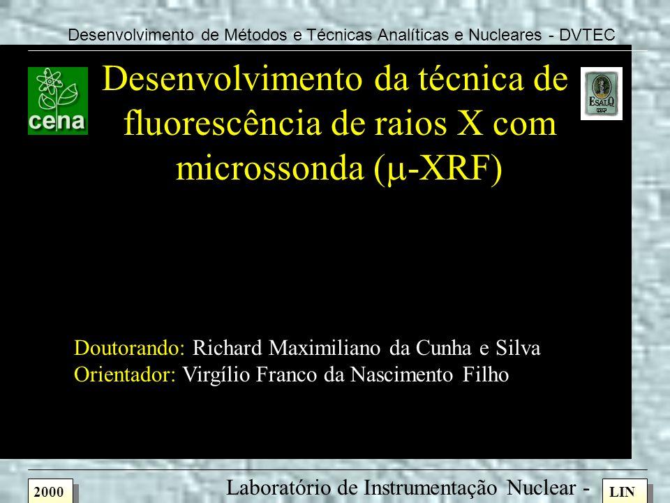 Desenvolvimento da técnica de fluorescência de raios X com