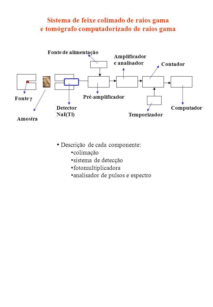 Sistema de feixe colimado de raios gama
