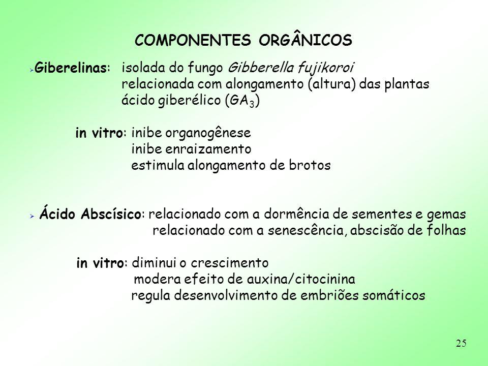 COMPONENTES ORGÂNICOS