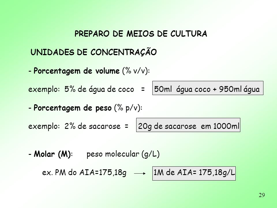 PREPARO DE MEIOS DE CULTURA