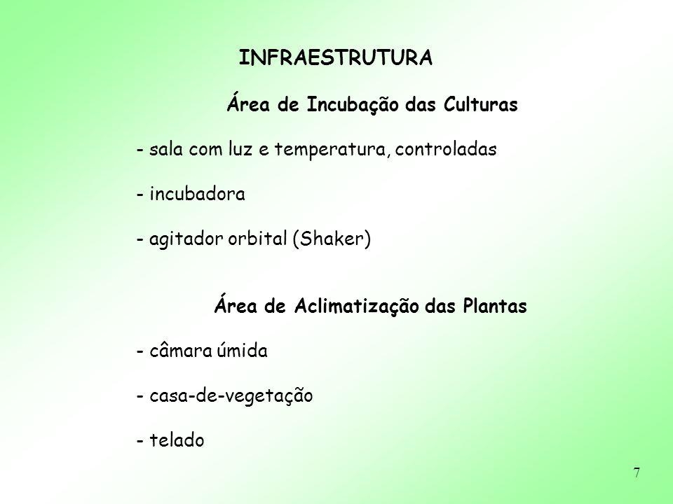 Área de Aclimatização das Plantas