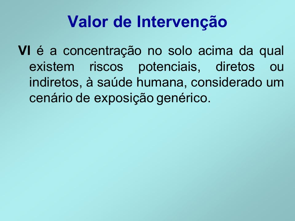 Valor de Intervenção